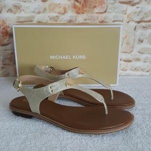 New Michael Kors Plate Thong Sandal